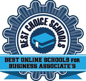 Best Online Schools for Business Associate's Degree Badge
