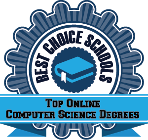 Top Online Computer Science Degrees Badge