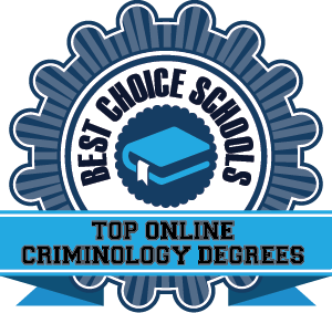 Top Online Criminology Degrees Badge