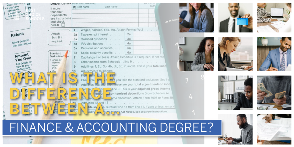 difference finance and accounting